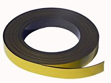 1M x 50mm x 0.6mm Magnetic Tape YELLOW PVC | Office Craft Fridge Label Warehouse