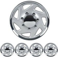 "4 PC Hubcaps for Ford E-150 250 350 Truck Van 16"" Full Lug ABS Wheel Protection"
