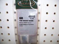 Weaver 48068 Alum Base Top Mount Base Gloss Black