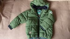 Next Kids Boys Winter Jacket Quilted Hooded Green 12-18 m  H 86
