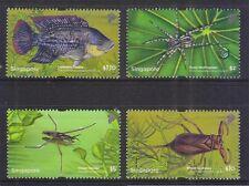 Singapore  2011 Pond Life High Value , Fish, Complete 4V MNH