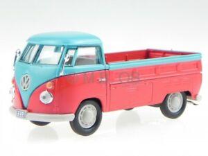 VW T1 pianale rosso-blu modellino Cararama 1/43