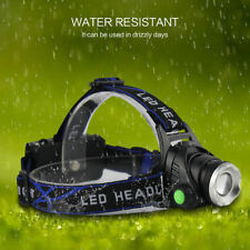 Zoom 8000Lm XM-L T6 LED 3-Modes Rechargeable 18650 Headlamp Headlight Head Torch