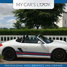 Porsche Boxster 987 Martini Rennsport seitenstreifen grafik aufkleber