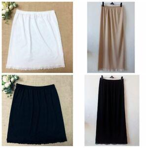"""Women Waist Slip Lady Black White Underskirt Petticoat Half Slips 23-39"""" Hot"""