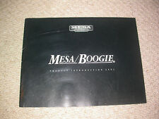 Mesa Boogie Amps 2001 Catalogue guitare collector Custom Studio Display Man Cave