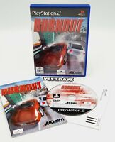 #1 BURNOUT Sony PlayStation 2 Game ps2 Complete Manual & MINT Disc - Black Label