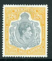 BERMUDA 1950 12/6 GREY & PALE ORANGE -PERF. 13 (SG120e)  LMM