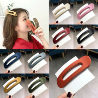 Women Large Barrettes Hairpin Frosted Hair Clip Duckbill Clip Bangs Hair Clamp