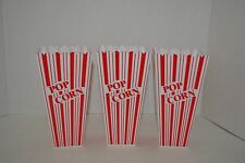 New listing Reusable Popcorn Plastic Containers Set of 3 Movie Theater Style Red & White