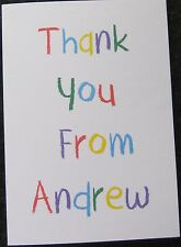 Personalised Thank You Cards Birthday - Christening - Boys-Girls-Childrens-Kids
