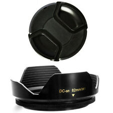 82mm Lens Hood Flower Wide Petal Shape and Lens Cap for Sigma 24-70mm f/2.8, New