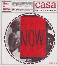 CASA DE LAS AMERICAS 36-37 AFRICA EN AMERICA 1966 Santeria Vodu Culture Cuba