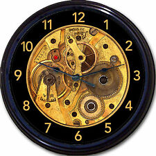 Steampunk Gears Gothic Wall Clock Image of Clock Works Vintage Victorian Goth