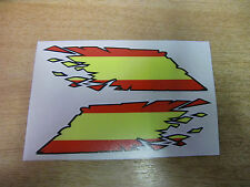 """Spanish Flag """"ripped"""" style stickers - 300mm decals x2 LARGE"""