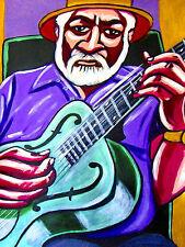 ROBERT LOCKWOOD JR. PRINT poster delta blues recordings national steel guitar cd