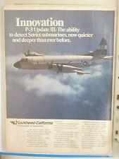 6/1985 PUB LOCKHEED P-3C ORION NAVY ASW MARITIME PATROL AIRCRAFT ORIGINAL AD