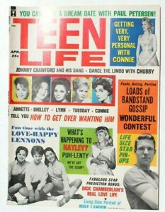 Vtg Johnny Crawford's Personal Star Celebrities Magazine - April 1963 Teen Life