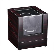 Automatic Wood Double Watch Winder Display Case Box Organizer Japan Motor