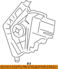CHRYSLER OEM Glass-Rear Door-Window Motor 68079284AB