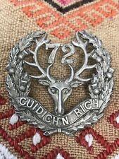 More details for original canadian  72nd seaforth highlanders cap badge