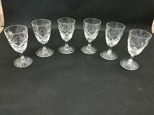 More details for 6 webb corbett crystal prince charles sherry glasses 10 cm tall