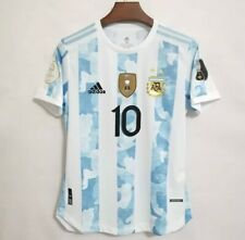 Argentina Home Jersey MESSI #10 With New Patch Champion (Medium Size)