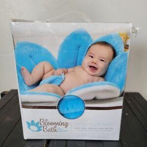 NEW Blooming Bath Baby Tub Blue Flower Sink Insert Plush Shower Gift Unisex