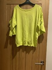Ladies Next Neon Yellow Cut Out Back Top Size 18 EUR 48