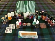 Large Lot of Nail Polish New 26 Bottles & Accessories
