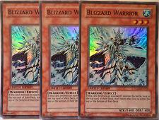 YUGIOH BLIZZARD WARRIOR HA01-EN002 SUPER RARE X3