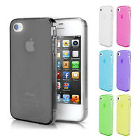 TPU Case iPhone 4 4S Hülle Silikon Schale Bumper Cover Staub Schutz Schwarz
