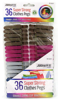 36x Heavy duty Clothes Pegs Clip Washing Line Airer Dry Line plastic Peg Garden