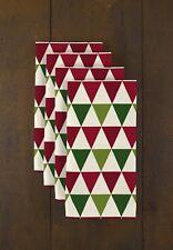 "Christmas Geometric Triangles 18"" x 18"" Napkins 1 Dozen"