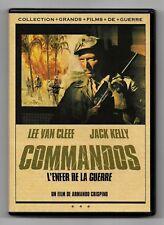 DVD GUERRE / COMMANDOS L'ENFER DE LA GUERRE - LEE VAN CLEFF / COMME NEUF