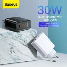 Baseus 30W QC3.0 PD Schnell Ladegerät USB C Power Adapter Typ C Netzteil Stecker