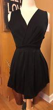 MOTESHOW Grecian Cross Bubble Black 🍸Cocktail Dress - SMALL - FREE SHIPPING!