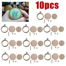 10 set Mini Embroidery Hoop Ring Wooden Cross Stitch Frame For Hand Crafts DIY