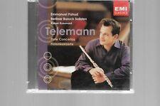 Telemann: Flute Concertos CD Nov-2002, Warner Classics FIRST Class Shipping