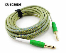 """20ft Kirlin 1/4"""" Mono Male to Male Woven Jacket Guitar/Bass Amp Pro Audio Cable"""