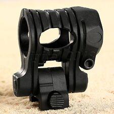 "1"" Ring Flashlight Torch Clip Laser Scope Mount 5 Position 20mm Picatinny Rail"