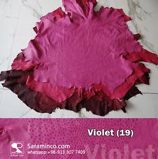 ostrich leather grade A 16 sqft violet  color