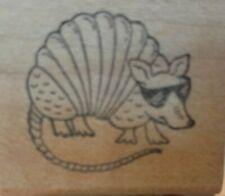 Cartoon armadillo wearing sunglasses, unknown maker, unique,502,rubber, wood