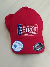 FLEXFIT Mens L/XL Hat Detroit 1976 MI License Plate Breatheable
