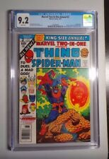 MARVEL TWO-IN-ONE ANNUAL #2 Death of THANOS, AVENGERS STARLIN 1977 CGC 9.2 WHITE