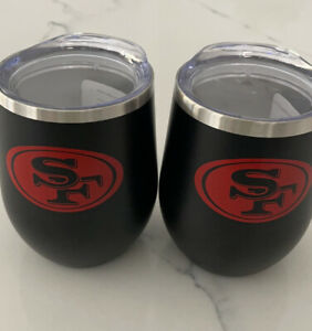 SF 49ers 12 oz Wine Tumblers-set of 2. BRAND NEW!