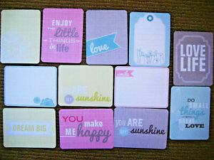 """' DREAM ' PROJECT LIFE CARDS - pack of 12 - 3"""" x 4"""""""