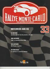 Paper nº 33 rallye monte carlo hotchkiss 686 gs-miki biasion
