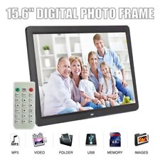 """15.6"""" HD 1080P LED Digital Photo Picture Frame Movie Player Video Remote Control"""