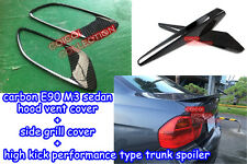 Carbon BMW E90 M3 hood vents + side grill cover + performance trunk spoiler ◎